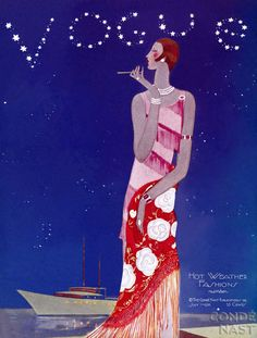 """Special Edition. """"Hot weather fashions"""". Vogue 1926. #vintage #vogue #covers"""