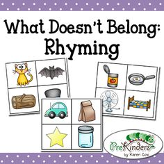 What Doesn't Belong Rhyming Game