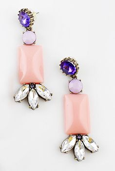 Pendientes cristales con piedra Rosado EUR€5.49