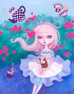 Alice in Wonderland illustration by Melanie Schultz