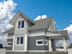Exterior house colors combinations - only in our photo gallery! Outdoor House Paint, Outside House Paint, Best Paint Colors, Paint Colors For Home, Modern House Colors, Exterior House Colors Combinations, Brown Roofs, Roof Colors, Exterior Paint Colors For House