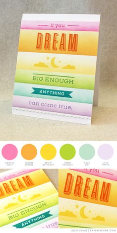 Dream Big Card by Lizzie Jones for Papertrey Ink (May 2017)