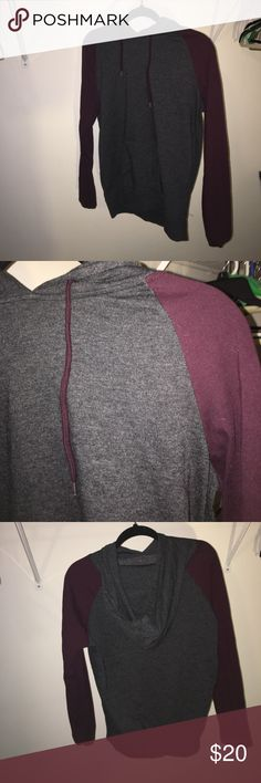 Maroon and grey hoodie Never worn / not too thick Zine Clothing Jackets & Coats