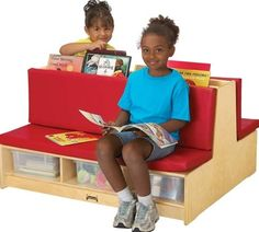 KIDS READ-a-ROUND - COUCH FOR WAITING AREA-Red or Blue