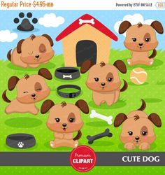 70% OFF SALE Puppy dog clipart dog clipart by PremiumClipart