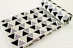 "Nordic Fabric - Scandinavian Fabric -43"" x 55"" - 100% Cotton - Nordic pattern - scandinavian pattern - Color black, grey, mint - KoreaBacol by KoreaBacol on Etsy"