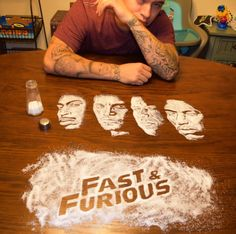 Fast and Furious. Drawing Portraits with Salt. To see more art and information about Rob the Original click the image. Fast And Furious Memes, Fast And Furious Cast, The Furious, Ryan Guzman, Karl Urban, Joe Manganiello, Travis Fimmel, Kit Harington, Luke Evans