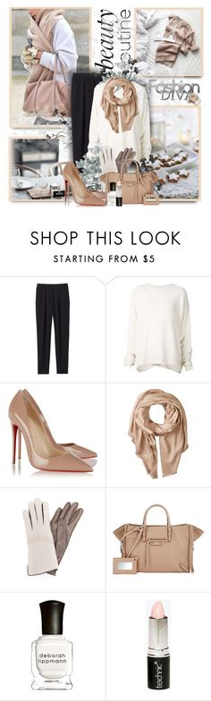 """BR"" by sneky ❤ liked on Polyvore featuring Rebecca Taylor, URBAN ZEN, Christian Louboutin, Michael Stars, Frauenschuh, Balenciaga, Deborah Lippmann and Boohoo"