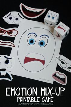 Printable Emotions Mix-Up Game #InsideOutEmotions #Ad