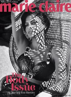Eva Mendes classic curves for Marie Claire's Body Issue - Swagger 360