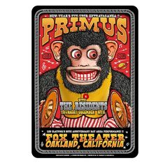 Fox theater Oakland Ca. 2010 Poster by @zzzoltron #primus #primusposters by primusville