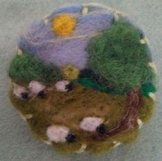 Needle felted brooch, handmade unique gift -sheep | eBay