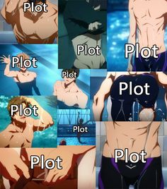 When you watch the Free anime for the plot