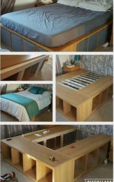 DIY this easy platform bed with storage!
