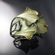 Ginkgo Leaf Bracelet by Michael Michaud - shop this botanical jewelry collection online