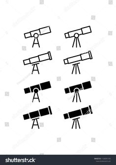 Find Telescope Icon Design Vector Symbol Astronomy stock images in HD and millions of other royalty-free stock photos, illustrations and vectors in the Shutterstock collection. Icon Design, Logo Design, Astronomy Tattoo, Sketch Notes, Silhouette, Videos Funny, Logo Inspiration, Telescope, Icon Set