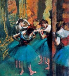 Blue Dancers painting, a Edgar Degas paintings reproduction, we never sell Blue Dancers poster