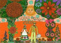 GALA SOBOL Schoko dreams-2000. 2004. Mixed media. 21x29,7 (8 1/4 x 11 7/8 in) // Schoko dreams-2000. 2004. Мішана техніка. 21x29,7