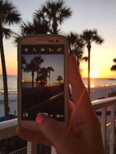 Taking a picture of a beautiful North Redington Beach Sunset! #doubletreebeachresort #sunset