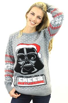 star wars official darth vader knitted christmas jumper bay 57 2