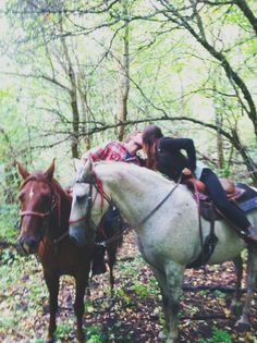 Trail ride through the forest!  <3 <3