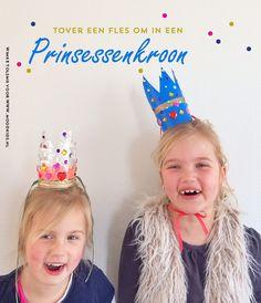 prinsessen kroon maken, kroontje maken, diy, maak een kroon van een plastic fles