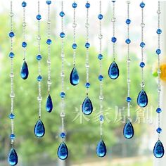 Crystal glass bead strands door curtain crystal bead curtain shade curtain porch hang curtain 5 strngs can be customized