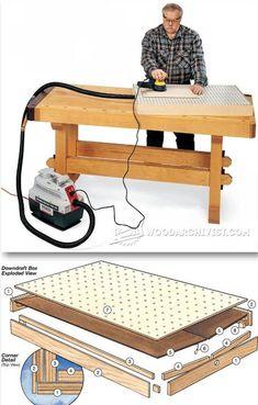 Downdraft Sanding Box - Sanding Tips, Jigs and Techniques   WoodArchivist.com