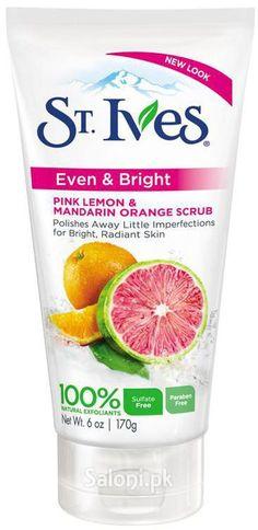ST.Ives Even Bright Pink Lemon & Mandarin Orange Scrub 170 Grams