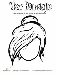 Aspiring Stylists Get Creative With A Fun Funky Hair Coloring Page Your Little One Will Love In Funny Face To Go This Messy Bun Do