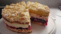 Baiser - Torte mit Himbeer - oder Brombeercreme