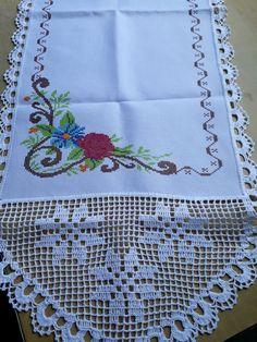 Crochet Flower Tutorial, Crochet Lace Edging, Filet Crochet, Crochet Doilies, Bead Loom Patterns, Crochet Stitches Patterns, Doily Patterns, Hand Embroidery Patterns, Crochet Bedspread Pattern