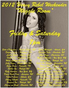 I'll be in the Wiggle Room at Heavy Rebel on Saturday night