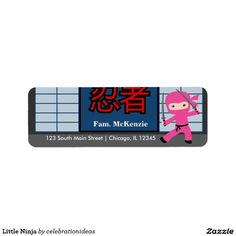 Sold Little #Ninja #Label #girl #martialarts #sports Available in different products. Check more at www.zazzle.com/celebrationideas