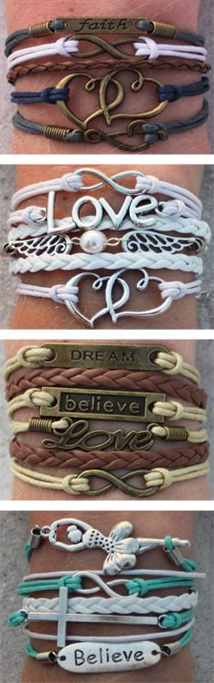 Choose 3 FREE (from over 60 unique designs). Must use coupon: PINTEREST to get 3 $15.00 ModWraps of your choice for free, when you cover shipping. Coupon expires: 1/13/15. See all our bracelet designs here: http://www.gomodestly.com/pinterest-sale-3/ ($45.00 coupon value can be used on any 3 ModWraps)
