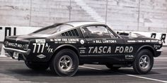 Bill Lawton driving a Tasca Ford Mustang at the 1965 Spring Nats!