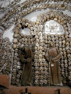 Crypt of the Capuchin Monks in Rome...ive been here... Very creepy and kinda gross!!!