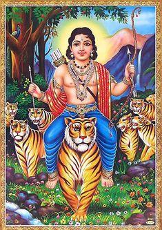 Lord Shree Ayyappan (Reprint on Paper - Unframed) Hanuman Images, Lord Krishna Images, Lord Photo, Hindu Deities, Hinduism, Lord Murugan Wallpapers, Saraswati Goddess, Radha Krishna Photo, Krishna Art