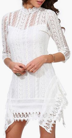 Isabel Lace Dress in Ivory