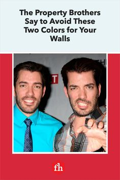 Before you grab that paint and roller, the Property Brothers want you to know about the two colors that rarely work for interior walls. Best Wall Paint, Wall Paint Colors, Kitchen Color Trends, Home Improvement Show, Paint Your House, Fun Facts About Yourself, Red Throw Pillows, Property Brothers, Minimal Decor
