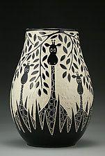 "Jirafas salvajes por Jennifer Falter (el vaso de cerámica) (11 ""x 8"")"
