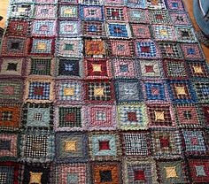 Fabric is a great resource. Good ideas for reusing your old clothes. (Pictured is a quilt made from old clothes.)
