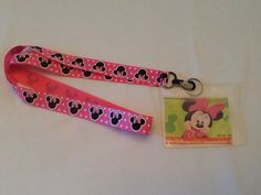 MINNIE MOUSE Heads  with ID Holder great for Disney World on Etsy, $9.00