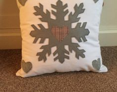 Christmas cushion cover by EffiesRags on Etsy