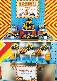 Bright and Bold Construction Party (4th Birthday)