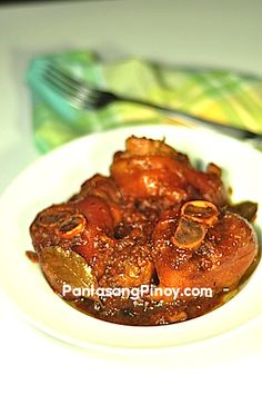Pata Hamonado or Ham hock cooked in pineapple juice and soy sauce is a delicious Filipino recipe. This dish is mostly enjoyed during lunchtime and best eaten with white or brown rice. The taste of this dish resembles the popular southern Filipino recipe known as humba.  The texture of the meat is a big factor for the success of this dish. The mea
