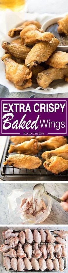 Truly Crispy Oven Baked Chicken Wings with Honey Garlic Sauce