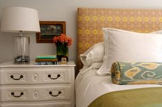 Colorful headboard- great!