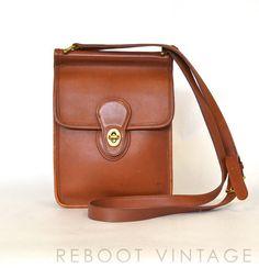 Vintage COACH British Tan Leather Murphy Willis by RebootVintage, $95.00