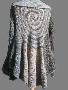 Swirl by Kristin Omdahl, free crochet pattern. Try a bit of free form crochet in this interesting sweater.